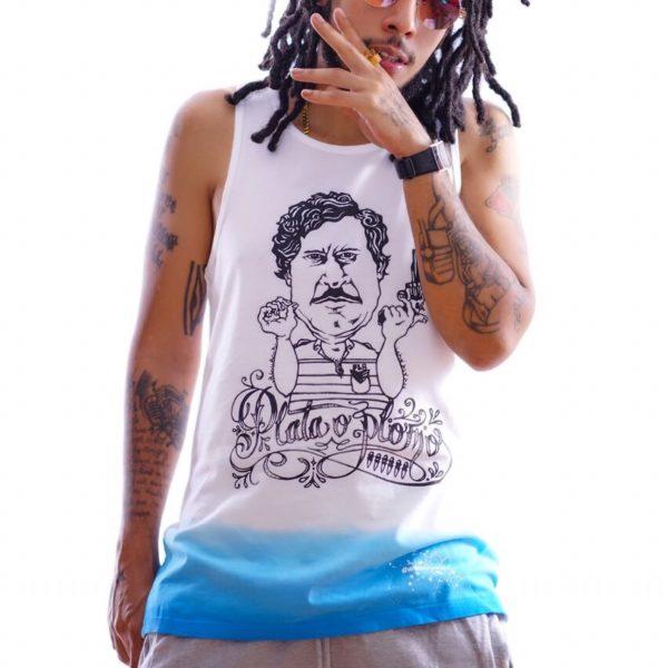 e7548df3a7dd3 ... Fashionably Lat8 Pablo Escobar Plata o Plomo Limited Edition Tank Top.  EPTM ...