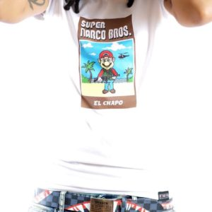 c1abff1469cb2 Random Artikl Limited Edition Super Narco Bros El Chappo Tee. (White)