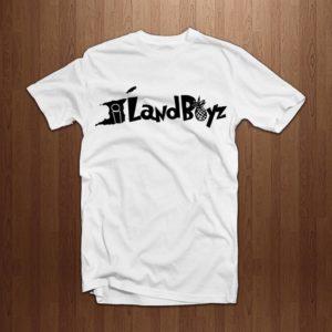 754ad9e7c99 Iland Boyz Gear Script Logo Tee (White)